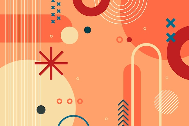 Platte ontwerp abstracte geometrische vormen achtergrond