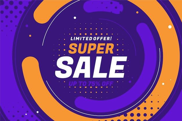 Platte ontwerp abstracte super verkoop banner