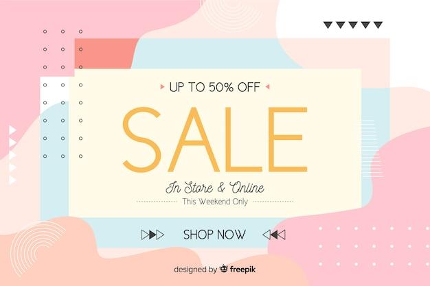 Platte ontwerp abstracte verkoop achtergrond