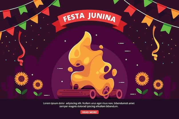 Platte ontwerp achtergrond festa junina