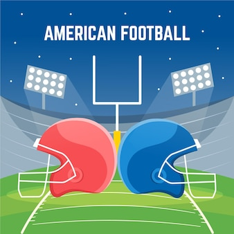 Platte ontwerp amerikaanse voetbal illustratie