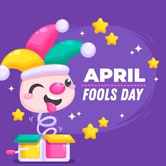 Platte ontwerp april dwazen dag thema