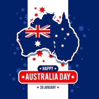 Platte ontwerp australië dag concept