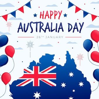 Platte ontwerp australië dag