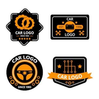 Platte ontwerp auto logo collectie concept