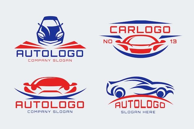 Platte ontwerp auto logo collectie