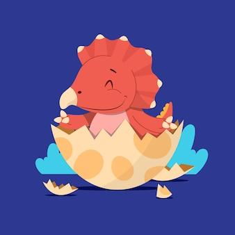 Platte ontwerp baby dinosaurus