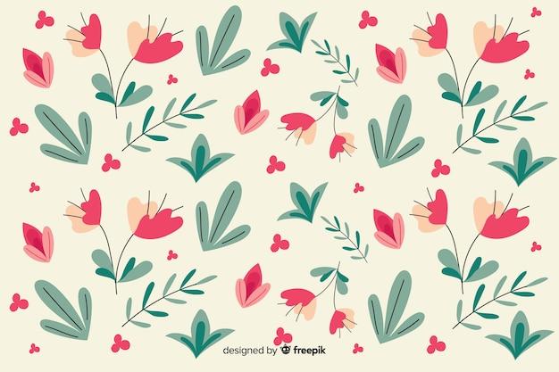 Platte ontwerp bloemmotief achtergrond