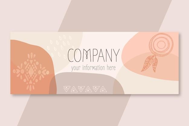 Platte ontwerp boho facebook-omslag