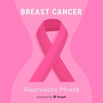 Platte ontwerp borstkanker bewustzijn met lint