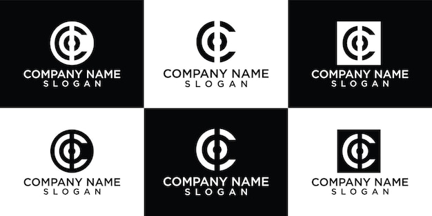 Platte ontwerp c logo ontwerpsjabloon