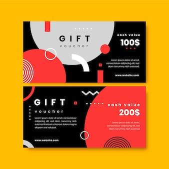 Platte ontwerp cadeaubon contante waarde