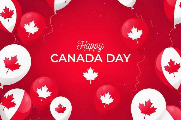 Platte ontwerp canada dag achtergrond