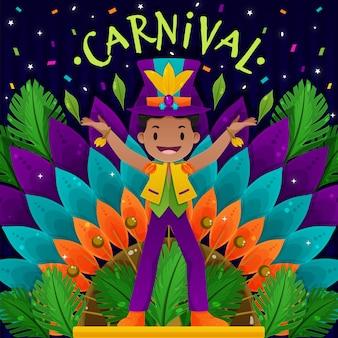 Platte ontwerp carnaval concept