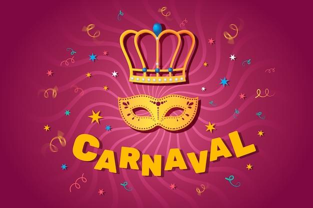 Platte ontwerp carnaval feestconcept
