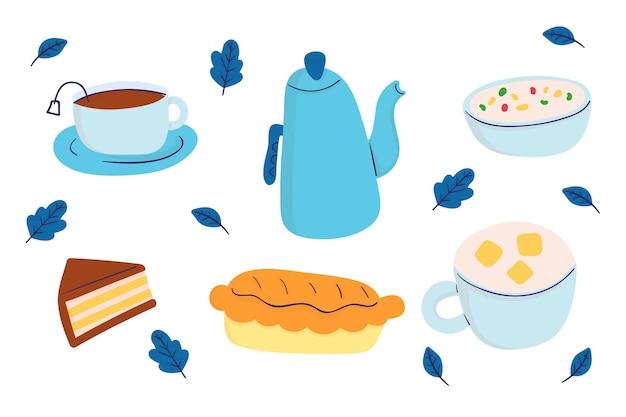 Platte ontwerp comfort voedsel illustratie collectie