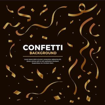 Platte ontwerp confetti achtergrond