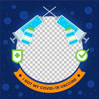 Platte ontwerp coronavihandgetekende coronavirus avatar facebook framerus facebook frame