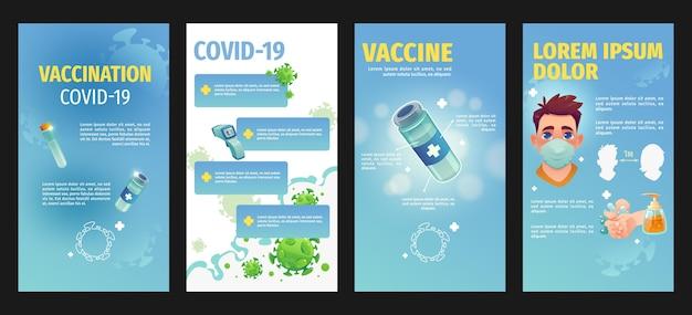 Platte ontwerp coronavirus instagram-verhalen