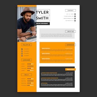 Platte ontwerp cv-template
