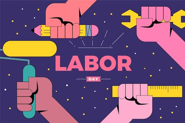 Platte ontwerp dag van de arbeid usa
