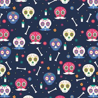 Platte ontwerp dag van het dode patroon