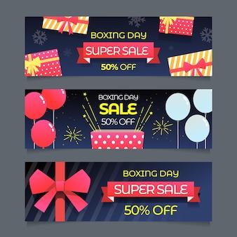 Platte ontwerp dag verkoop banners sjabloon