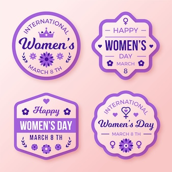 Platte ontwerp dames dag badge collectie