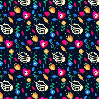 Platte ontwerp dia de muertos patroon