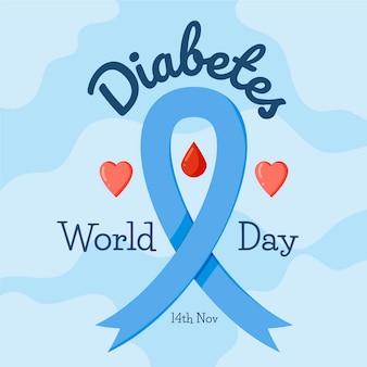 Platte ontwerp diabetes dag concept