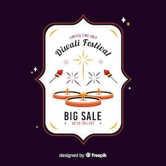 Platte ontwerp diwali verkoop
