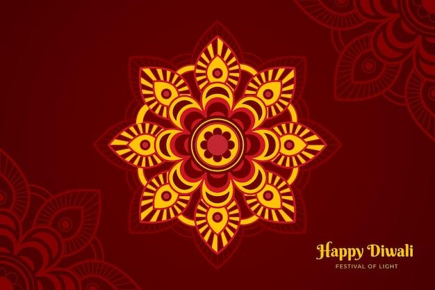 Platte ontwerp diwali-viering
