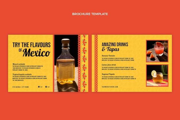 Platte ontwerp drankenbrochure sjabloon