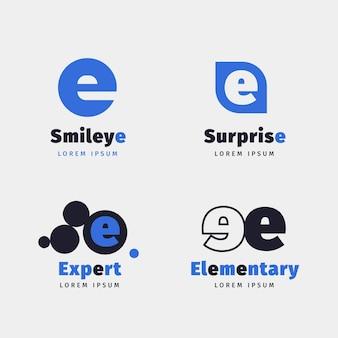 Platte ontwerp e logo templates-collectie
