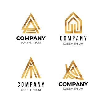 Platte ontwerp een logo-set