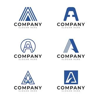 Platte ontwerp een logo-sjablonen set