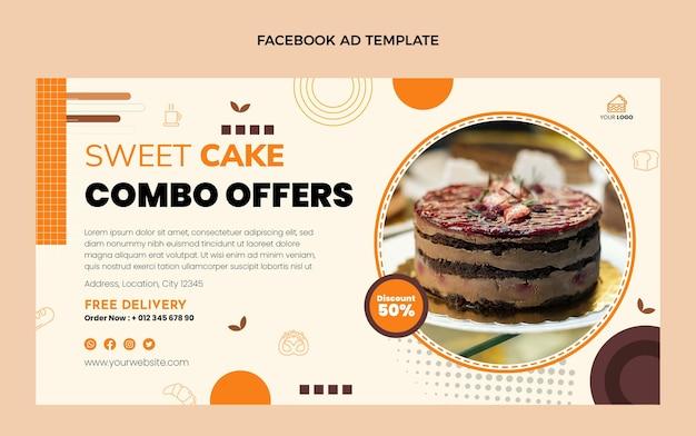Platte ontwerp facebook advertentie