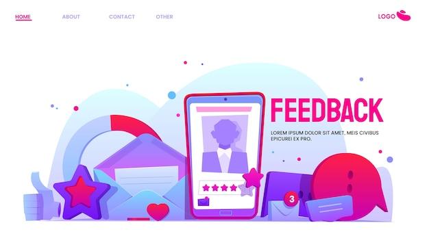 Platte ontwerp feedback concept geïllustreerd