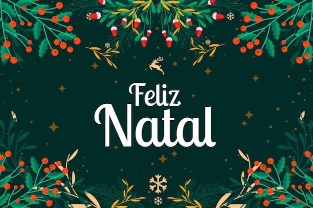 Platte ontwerp feliz natal