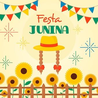 Platte ontwerp festa junina-stijl