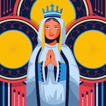 Platte ontwerp fiesta de la virgen