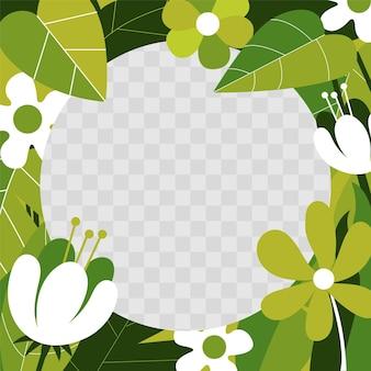 Platte ontwerp floral facebook frame