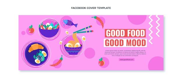 Platte ontwerp food facebook-omslag