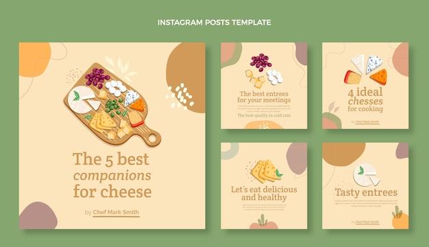 Platte ontwerp food instagram-berichten