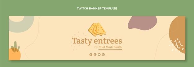 Platte ontwerp food twitch banner