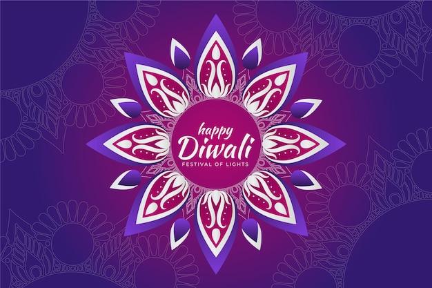 Platte ontwerp gelukkig diwali traditioneel ontwerp