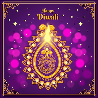 Platte ontwerp gelukkige diwali-viering