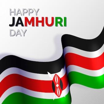 Platte ontwerp gelukkige nationale jamhuri-dag