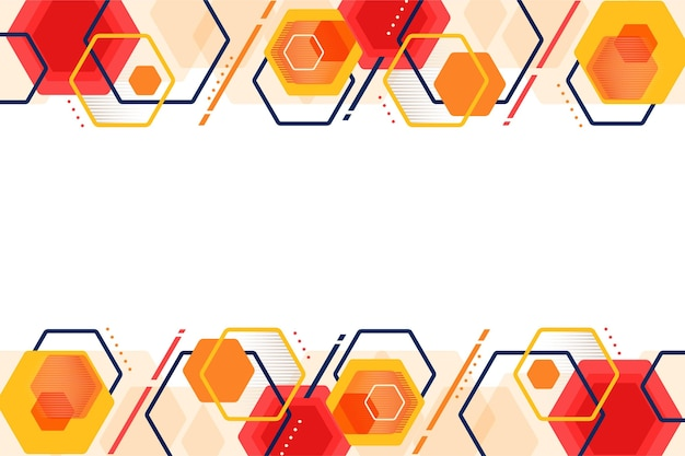 Platte ontwerp geometrische achtergrond