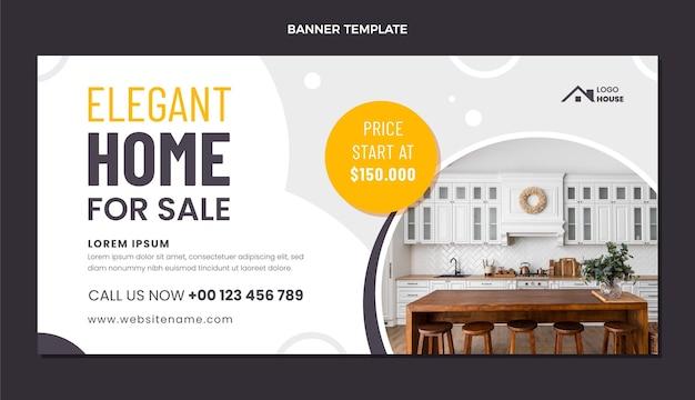 Platte ontwerp geometrische onroerend goed verkoop banner
